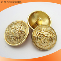Anti-gold plating metal shank button for coat