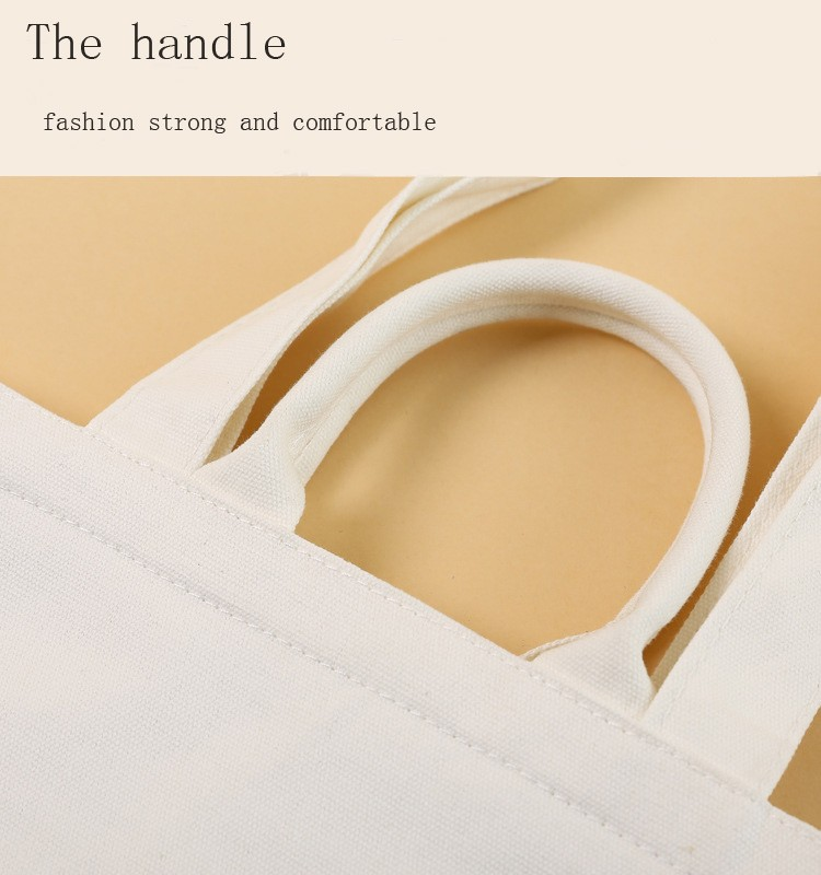 Woman Promotion Canvas Cotton Beach Rope Handle Tote Handbag custom cotton tote handbag
