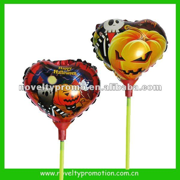 Halloween Foil Balloon with Stick