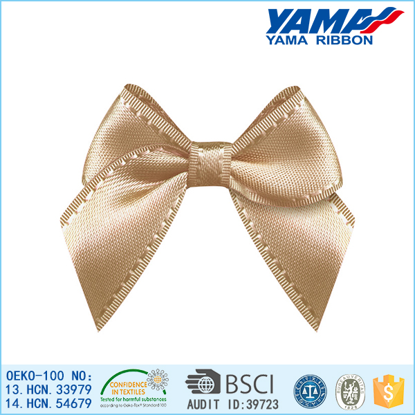 Xiamen factory direct sale brown smooth surface polyester bow hair accessories ponytail