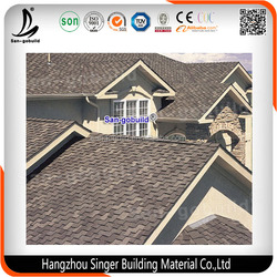 Competitive Price Fiberglass Modified Bitumen, 3-tab Ocean Blue Asphalt Roofing Shingles
