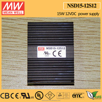 MEANWELL DC DC On Board Type LED Driver Constant Current Regulated 9.4-36VDC Input 12V 1250mA Single Output CE&CUL NSD15-12S12