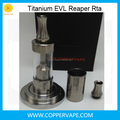 Super Light Titanium EVL Reaper rta Bottom filling New EVL atomzier 3.5ml By Coppervape