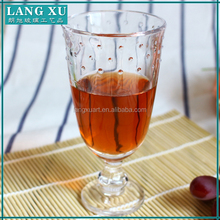 Glassware clear pressed decorative glassware goblet