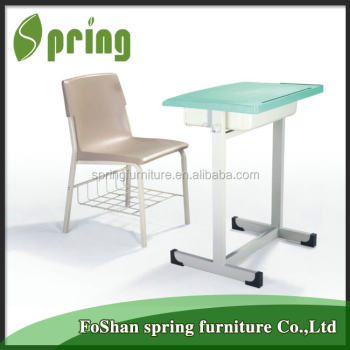 2017 school furniture student furniture single student desk and chair KZ-22