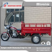 alibaba China wholesale 150cc cargo tricycle with cabin / hot tricycle manual reducer
