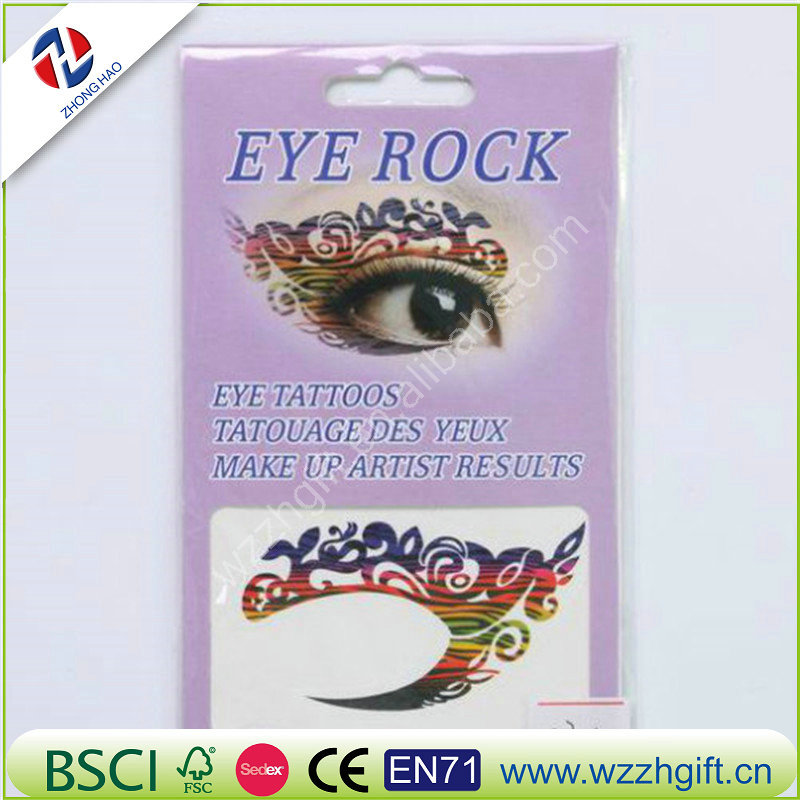 wholesale excellent holiday party eye rock temporary waterproof artistic makeup sticker eye line tatoo
