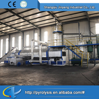 China supplier waste tyre recycling and pyrolysis plant