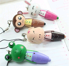 fashion cute animal wood ball pen