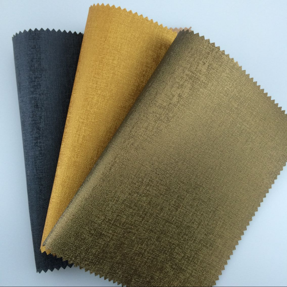 2018 Chinese Supplier 0.60mm Thickness Customized Thermo Reactive PU Leather for Book Binding