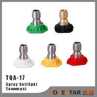 Set of 5 High Pressure Washer Spray Nozzles Tips Tip Quick Disconnect Fittings