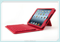 Wireless Silicone Bluetooth Keyboard PU Leather Stand Case for iPad mini2