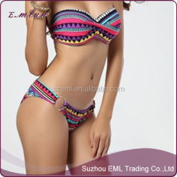 women new geometry bikini sexy ladies steel new swimsuit
