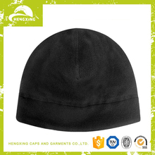 Black winter warm fleece beanies hats for men