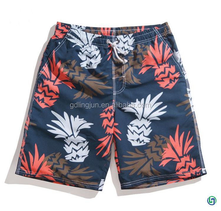 Custom printed cotton boardshorts for mem