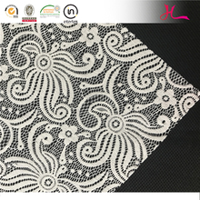 S1123 China Textile variety nylon lycra stretch white bridal lace fabric
