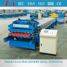 YLE200 hydraulic press braker colored steel roof sheet tile cold roll forming machine