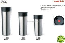 350ml Double wall sublimation travel mug/thermos travel mug with your own design