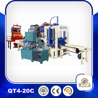 hollow brick making machine QT4-20 foam brick making machine landscaping paver block machine