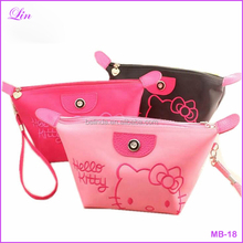 Free Shipping by DHL/FEDEX/SF Women Portable Cute hello kitty Makeup Case Toiletry Pouch Cosmetic Cases