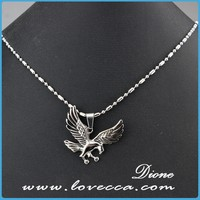 New vintage bird shape stainless steel pendant charms chain necklace