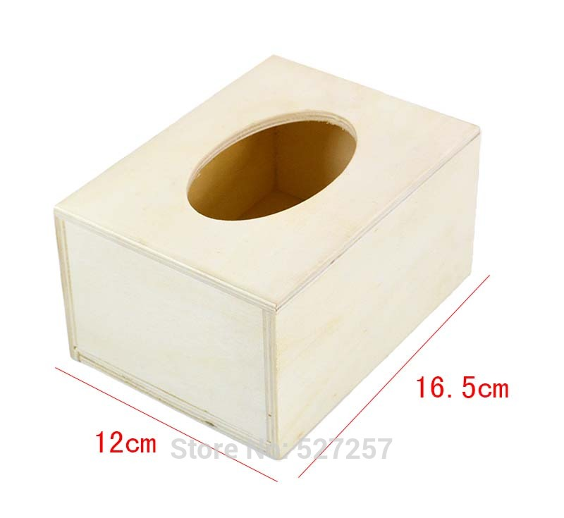 Home Decoration Creative Wooden Tissue Box