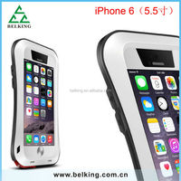 Powerful love mei for iPhone 6 plus metal case, for iPhone 6 plus 5.5 inch aluminum love mei shockproof/waterproof/ dropproof