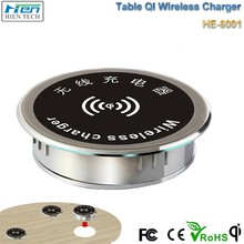 High quality QI wireless charger for table desktop and other furniture wireless charger