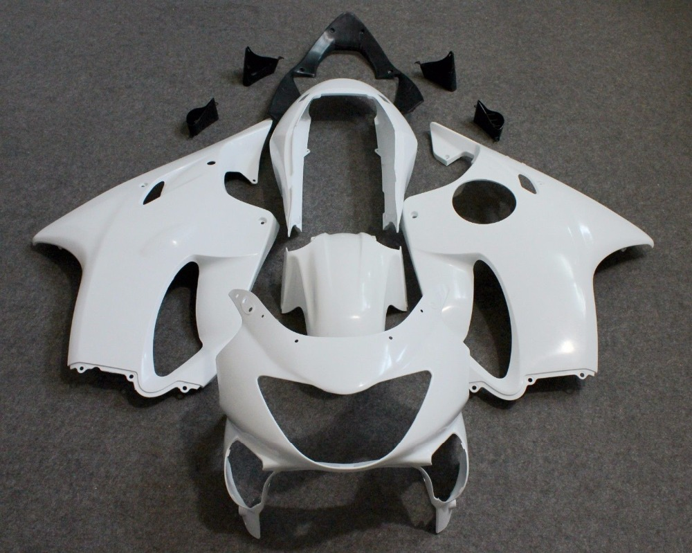 Unpainted White ABS Injection Bodywork Fairing Kit for HONDA CBR600 F4 1999 2000