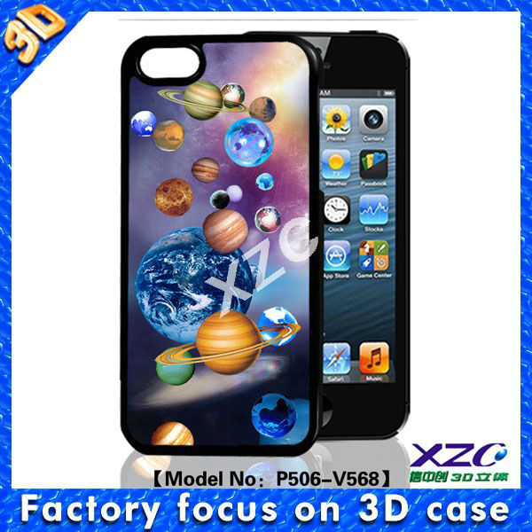 3D universe mobile case for iphone 5 with animation image