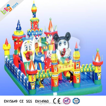 2016 Professional custom themes inflatable trampoline bouncer castle,Inflatable Castle