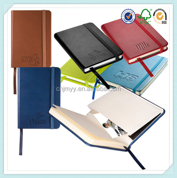 2016 custom promotional pu leather planner, diary, agenda notebook