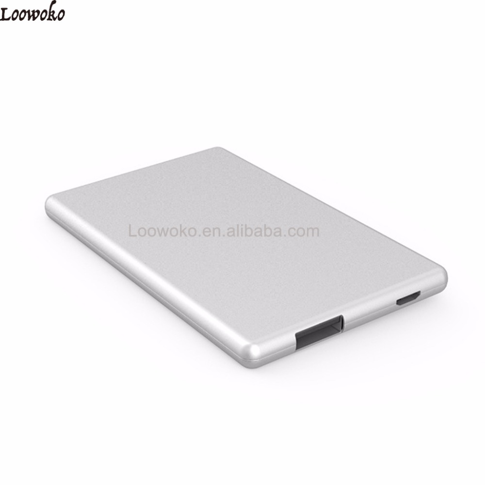 Custom Portable Mobile Ultra Thin Credit Card Size Power Bank