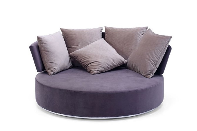 Big Round Shape Wood Frame Comfy Swivel Accent Sofa Chair For Living Room Buy Round Chair Big