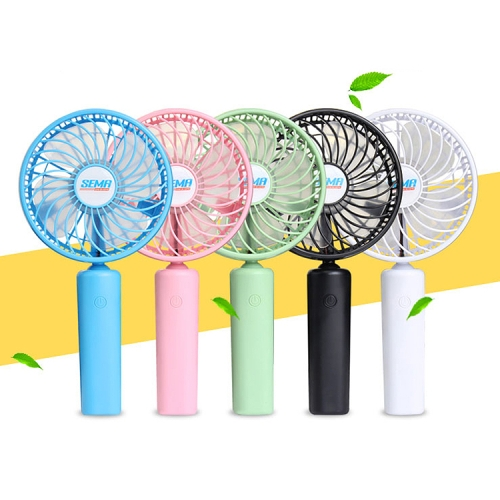 drop shipping360 Degree Rotate Handheld Rechargeable Mini Battery Fan with 3 Speed Control (Black)