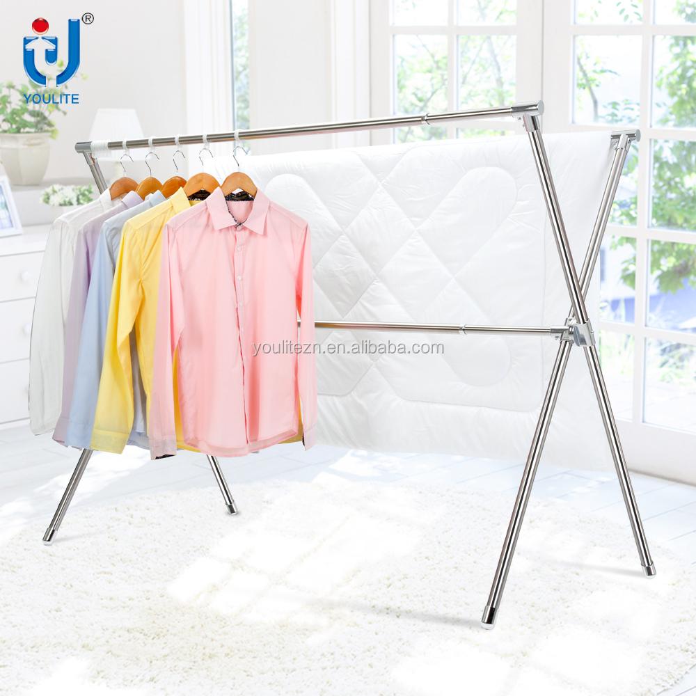 High Quality X Type Folding Metal Clothes Drying Rack Buy Metal