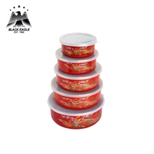 Reusable porcelain coating enamel heated food container