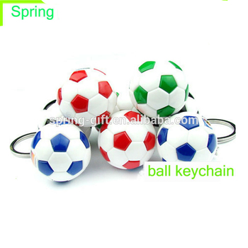 Promotion gift pvc soccer keychain football key chain