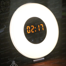 Wake-Up Light with Colored Sunrise Simulation alarm clock & sunset fading night light