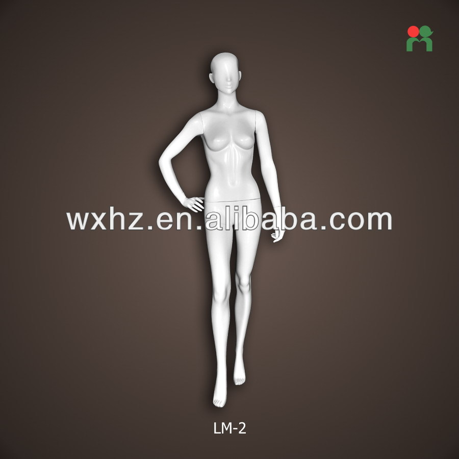 Wholesale popular window display female full-body mannequin/dress form female sale glossy white LM-2