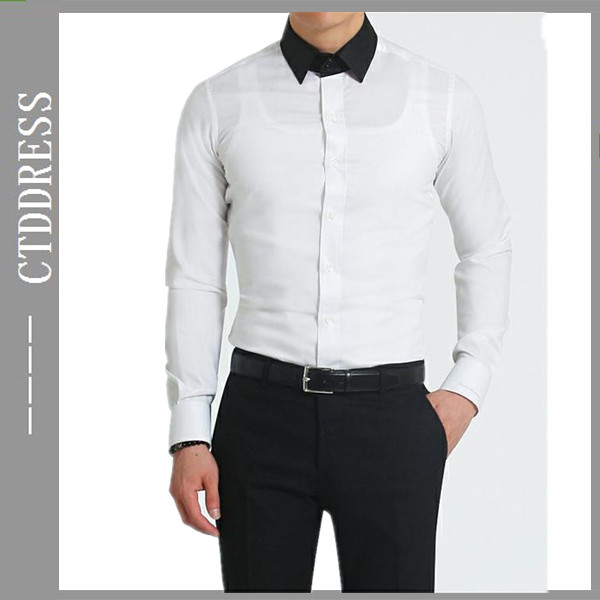 korean style mens fashion tuxedo shirts for party wear