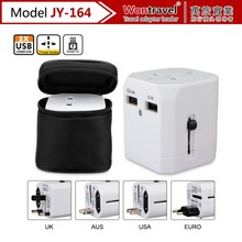 JY-164 DC output power 5V 2500mA international travel plug adapter protable usb travel adapter
