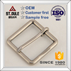 35mm brass square pin belt buckle for men