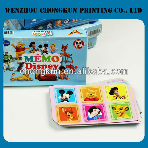 paper card for kids,cartoon picture paper card