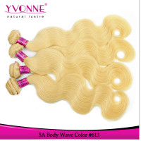 Color 613 blonde human hair extensions for white women