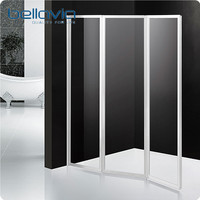 acrylic glass plastic folding bathtub shower door 6593
