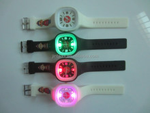 LED flashing siicone watch with customized logo