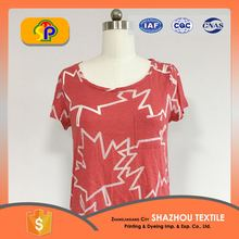 wholesale custom 100% cotton woman t-shirt
