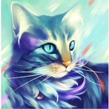 Cat wall art digital painting pictures 5d wallpapers for home
