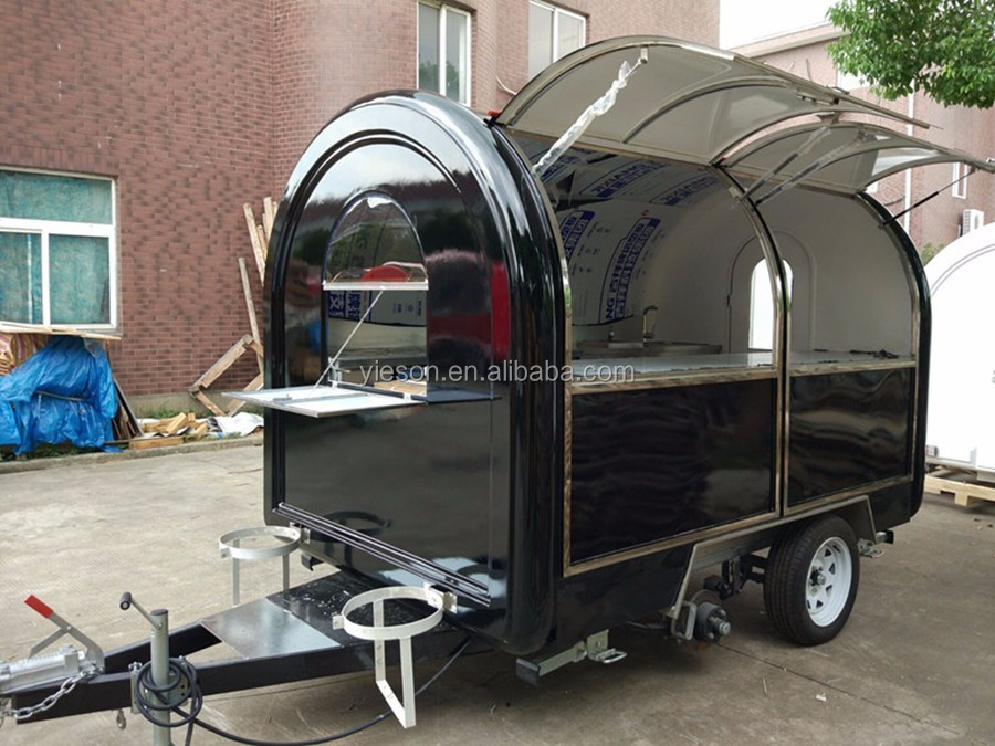 Roomy! fibreglass food vans for sale Mobile fried ice cream mobile food truck pizza van YS-FB200M